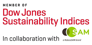 Member of Dow Jones Sustainability Indices, in collaboration with SAM