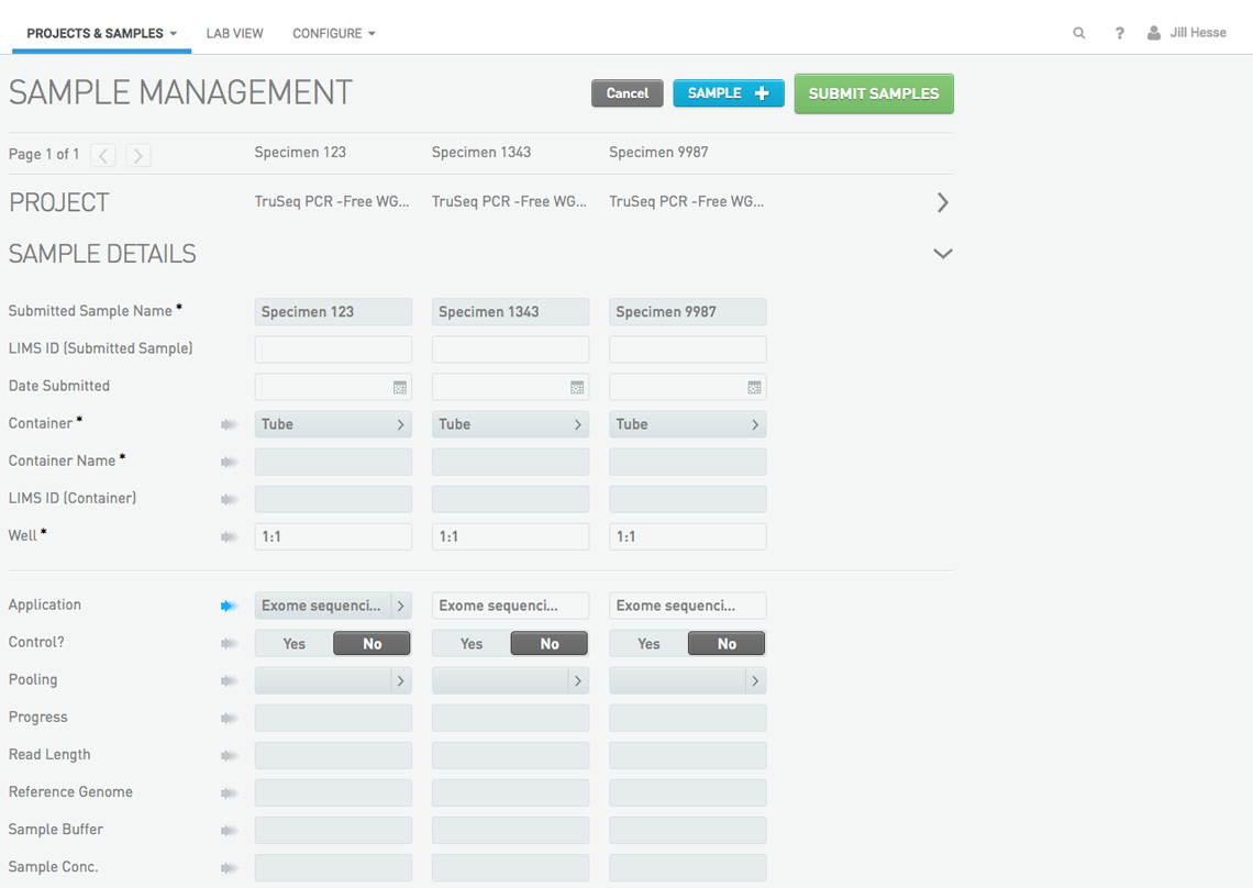 BaseSpace Clarity LIMS Sample Management